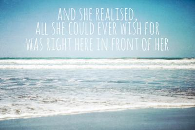 And She Realised, All She Could Ever Wish for Was Right Here in Front of Her