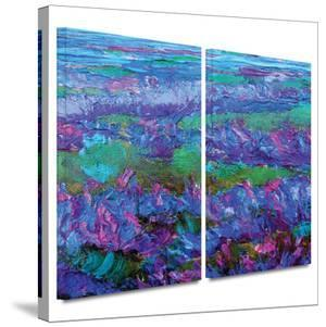 Charlits Floral 2 piece gallery-wrapped canvas by Susi Franco