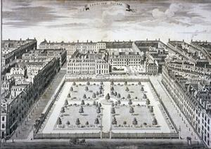 Bird's-Eye View of Leicester Square, Westminster, London, C1750 by Sutton Nicholls