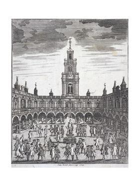 Courtyard of the Royal Exchange (2N) London, 1729 by Sutton Nicholls