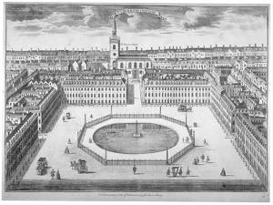 St James's Square from the South, London, 1754 by Sutton Nicholls