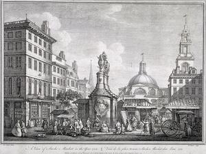 Stocks Market in Poultry, London, C1728 by Sutton Nicholls