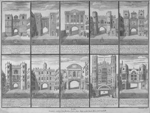 Ten Gateways in the City of London and the City of Westminster, 1720 by Sutton Nicholls