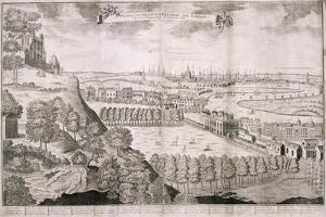 View from Greenwich Park, London, 1723 by Sutton Nicholls