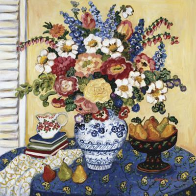 Ann's Favorite Blue And White Floral by Suzanne Etienne
