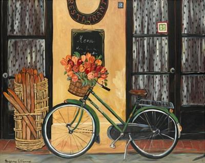 Bicycle with Flowers by Suzanne Etienne