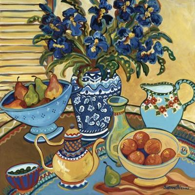 Blue and White with Oranges by Suzanne Etienne