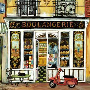Boulangerie and Red Scooter by Suzanne Etienne