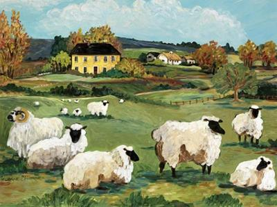 Lambs on Green Hill by Suzanne Etienne