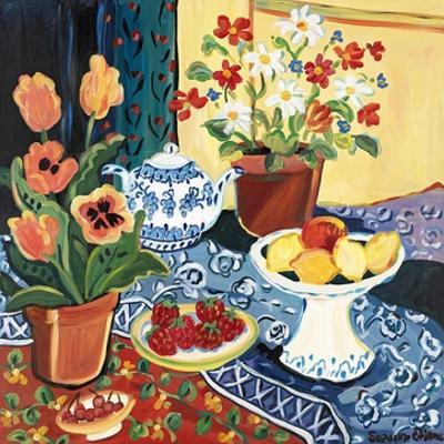 Lemons and Flowers by Suzanne Etienne