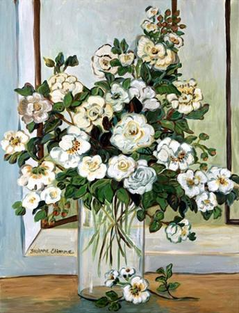 White Roses in Blue by Suzanne Etienne