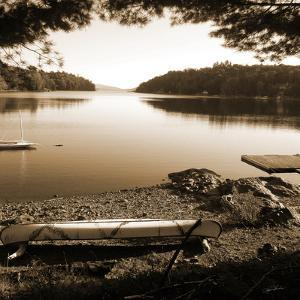 Canoe on Shore sepia by Suzanne Foschino