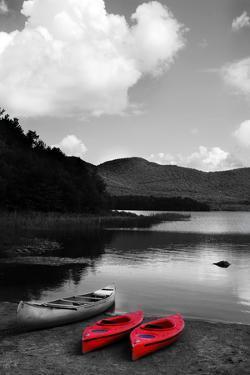 Kayak Red by Suzanne Foschino