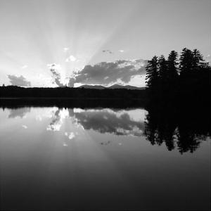 Sunset Lake 2 by Suzanne Foschino