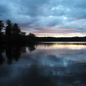 Sunset Lake Pink 1 by Suzanne Foschino