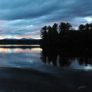 Sunset Lake Pink 2 by Suzanne Foschino