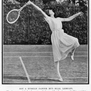 Suzanne Lenglen Taking a Shot