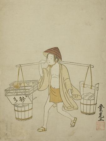 A Water Vendor, 1765 by Suzuki Harunobu
