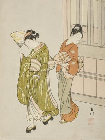 Clearing Breeze from a Fan (Ogi No Seiran), C.1766 by Suzuki Harunobu