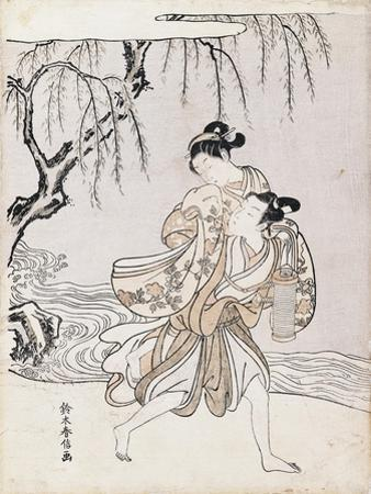 Couple on the Banks of the River by Suzuki Harunobu