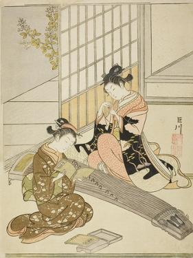 Descending Geese of the Koto Bridges (Kotoji No Rakugan), C.1766 by Suzuki Harunobu