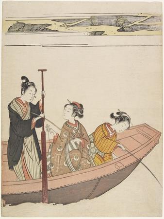 Fishing Near Mimeguri Shrine on the Sumida River, C. 1767 by Suzuki Harunobu