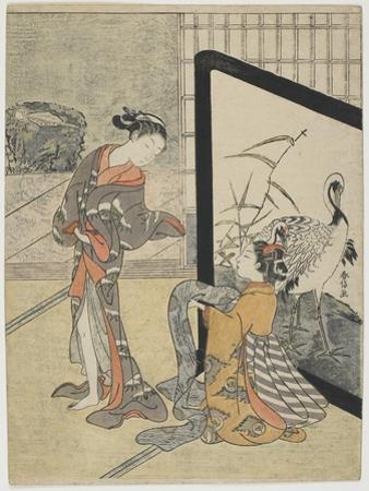 Getting Dressed, 1765-1769 by Suzuki Harunobu