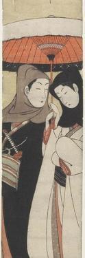 Lovers Sharing an Umbrella, C. 1770 by Suzuki Harunobu