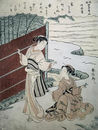 Man and Woman by a Hedge by Suzuki Harunobu