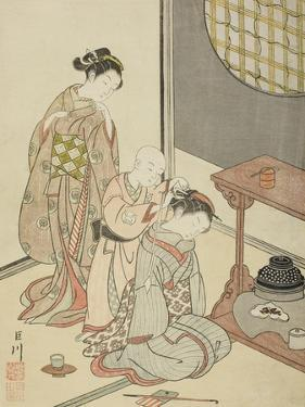Night Rain of the Tea Stand , from the series Eight Views of the Parlor , c.1766 by Suzuki Harunobu