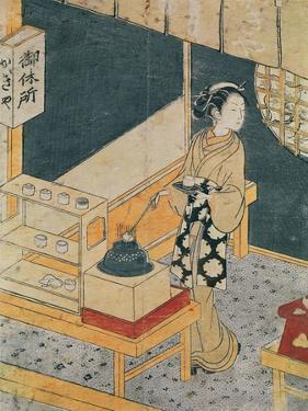 Servant Making Tea by Suzuki Harunobu