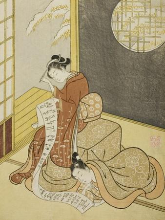 The Love Letter, 1765 by Suzuki Harunobu