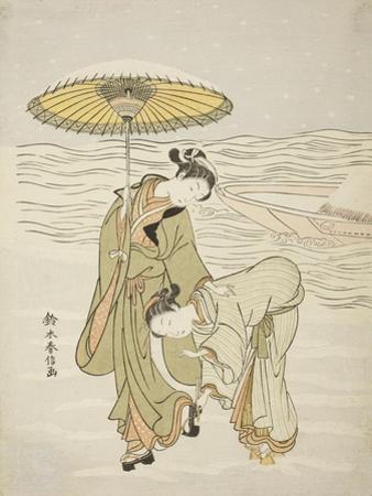 The Snow-Clogged Geta, C.1767-68 by Suzuki Harunobu