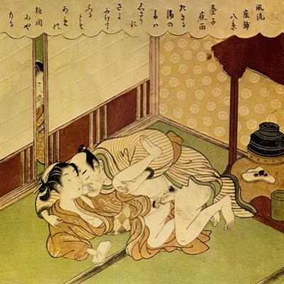 Two Lovers, C1750 by Suzuki Harunobu