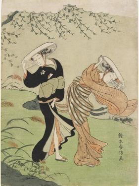 Two Women in High Wind, C. 1767 by Suzuki Harunobu