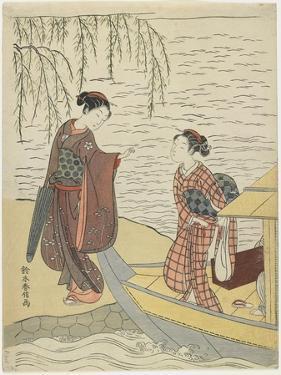 Women Disembarking from a Boat, C. 1767 by Suzuki Harunobu