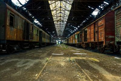 Cargo Trains in Old Train Depot by svedoliver