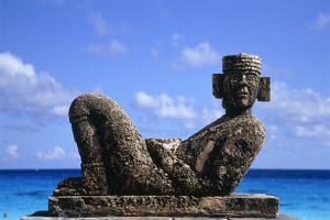 Sculpture by the Ocean in Cancun, Mexico by Svenja-Foto