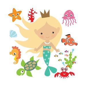 Mermaid Illustration by Svetlana Peskin