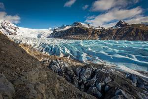Svinafellsjokull Glacier in Skaftafell National Park, Iceland
