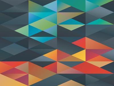 Colorful Triangles Ornament