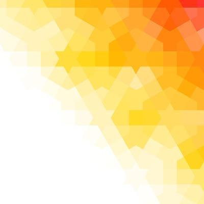 Orange and White Arabic Background