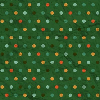 Polka Dot Pattern on Green Background