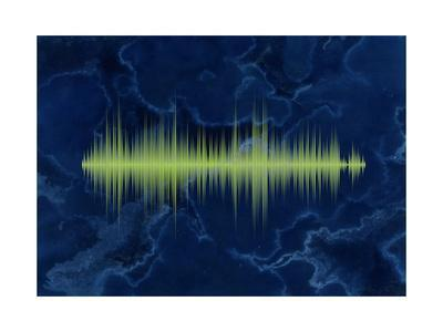 Waveform On The Sea Themed Background