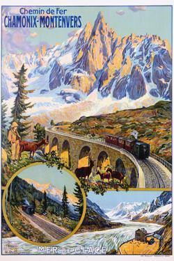 Chamonix-Montenvers Poster by David Dellepiane by swim ink 2 llc