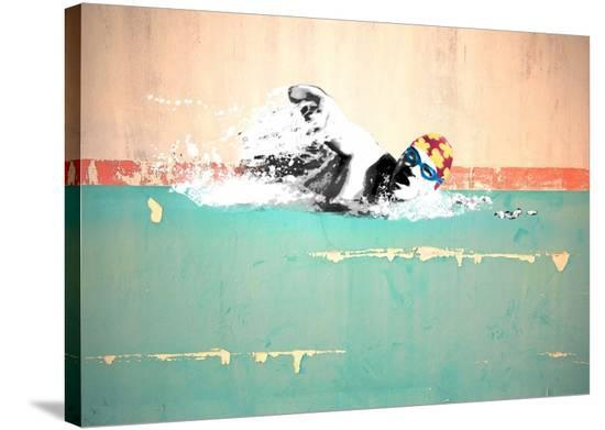 Swim on! Bronx, NYC-Masterfunk collective-Stretched Canvas