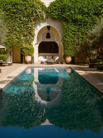 Swimming pool of Villa des Orangers hotel, Marrakesh, Morocco