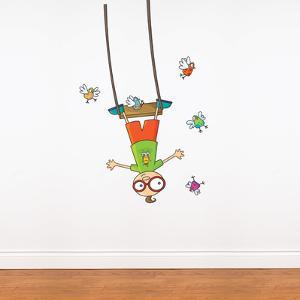 Swing Boy Wall Decal