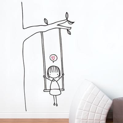 Swinging Wall Decal