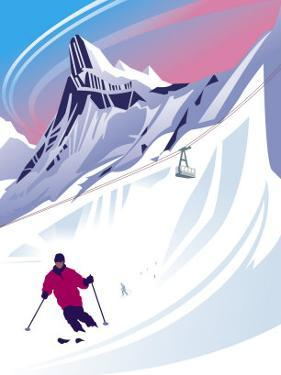 Swiss Alps Ski Scene